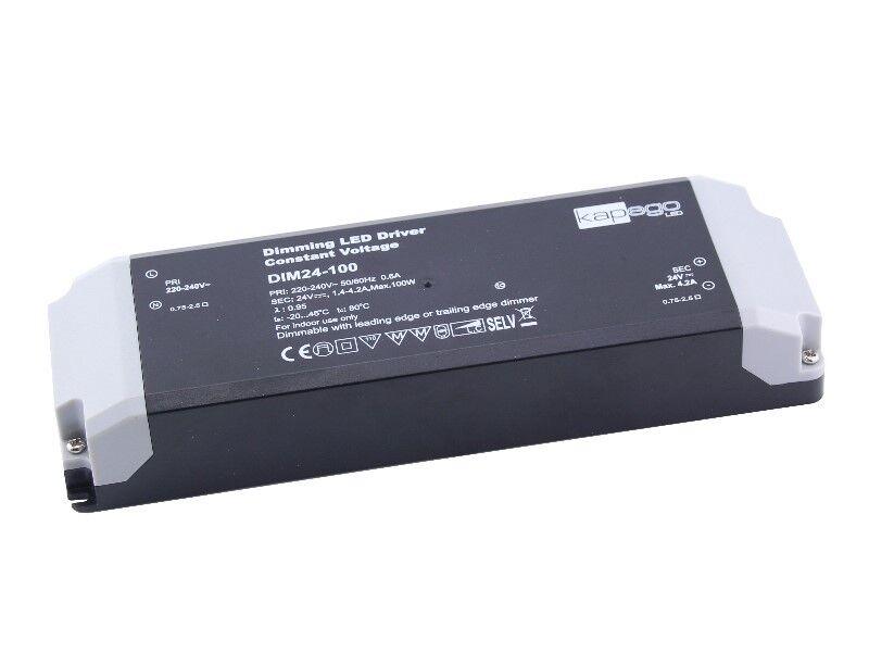 LED Trafo dimmbar 24V 100W für Phasenanschnitt   Phasenabschnitt Dimmer