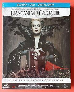 Biancaneve-E-Il-Cacciatore-Blu-Ray-Dvd-Steelbook-Tiratura-Limitata-Nuovo