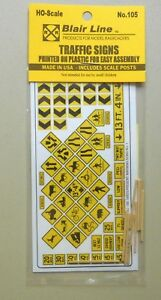 YELLOW-WARNING-SIGNS-HO-SCALE-TRAIN-LAYOUT-DIORAMA-BLAIR-LINE-105
