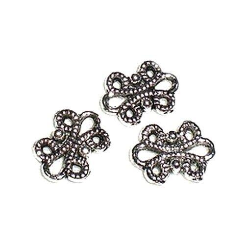 10 Perles connecteur Entre-deux Flot noeud 12x9mm Apprêts création bijoux /_ A034