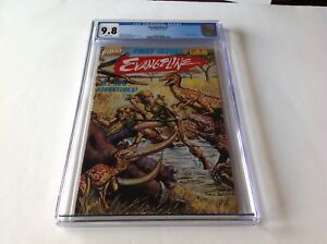 EVANGELINE-1-CGC-9-8-WHITE-PAGES-DINOSAUR-WRAPAROUND-COVER-DIXON-FIRST-COMICS