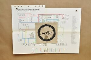 1995 yamaha yzf600 r yzf600 rg factory color schematic wire wiring rh ebay ie