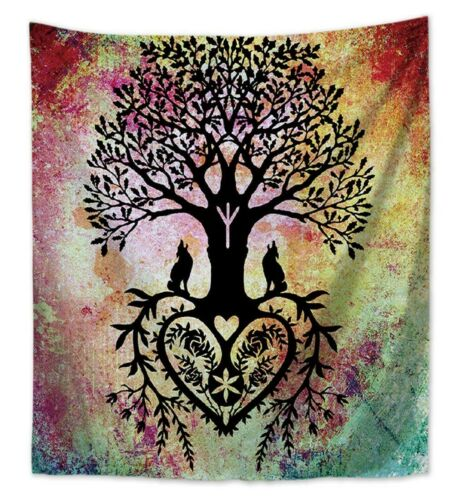 US SELLER 6 pieces zen Chakra tree of life wall tapestries home decor giftware