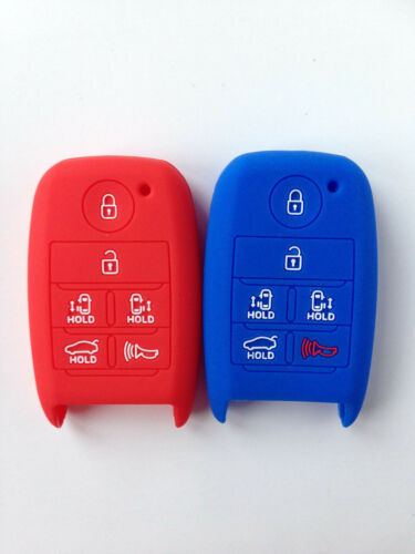 2pcs Key Cover Jacket for 2015 KIA Sedona Smart Key Case Fob Remote Keyless Gift