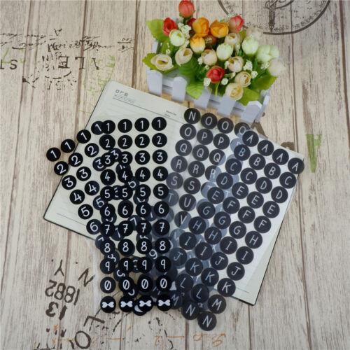 2x Diary Photo Decor Letter Alphabet English Numbers PVC Scrapbooking StickerTYU