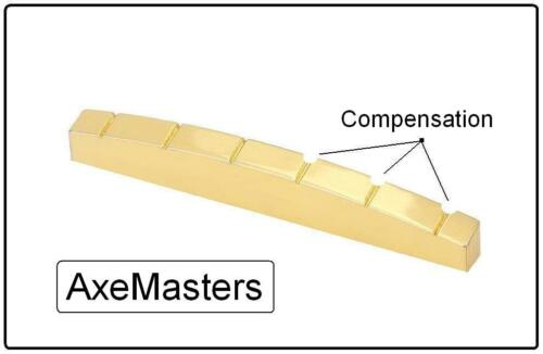 AxeMasters LEFTY COMPENSATED Brass Nut made for Fender Guitar Strat Tele