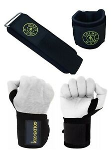 Golds Gym Weight Lifting Grips Training Gym Straps Glove Wrist Support Bar Wraps