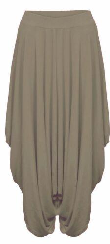 NUOVO Donna Celeb Larghi Hareem Ali Baba LOTTO Lagenlook Pants Pantaloni Harem 8-26