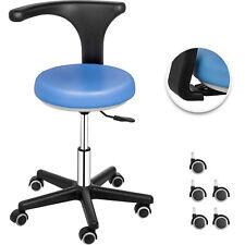 Dental Stool Medical Assistant Nurse Chair 360 Rotation Mobile Blue Ergonomic