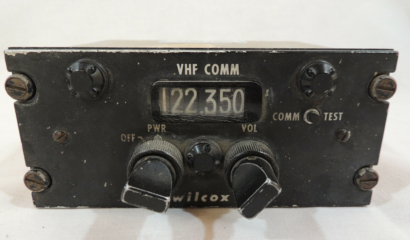 Vintage Bell Helicopter Radio Set Control by Wilcox Instrument Gauge  2