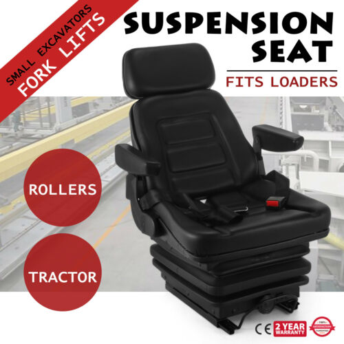 Slide Track Compact Mower Seating w// Backrest Tractor Seat Spring Suspension