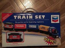 New In Box Chevron Wood Train Set