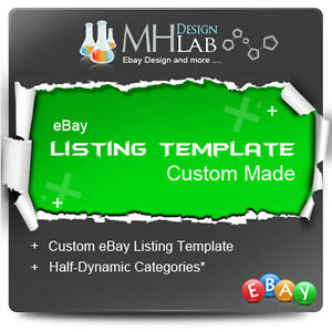 Professional Custom Ebay Listing Template Design For EBay Shop EBay - Custom ebay store template