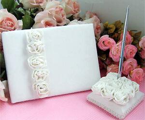 Image Is Loading Ivory Wedding Guest Book Amp Pen Set