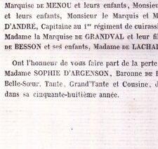 Sophie Voyer De Paulmy D'Argenson Reynaud De Lascours 1860