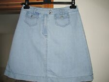 Topshop Denim Jean Skirt Size 12 washed look must see great for festivals