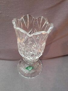 A SHANNON CRYSTAL DESIGN OF IRELAND CANDLE HOLDER FOR A 4 INCH TAPER