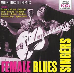 FEMALE-BLUES-SINGERS-ETTA-JAMES-RUTH-BROWN-ODETTA-MA-RAINEY-10-CD-NEU