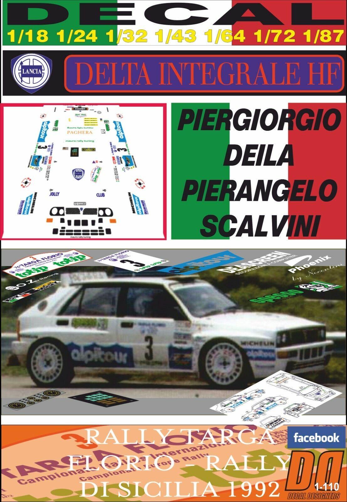 DECAL LANCIA DELTA HF INTEGRALE P. DEILA TARGA FLORIO FLORIO FLORIO 1992 WINNER (08) 97dace