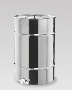 Maturateur en acier inoxydable de 200 kg avec couvercle et robinet