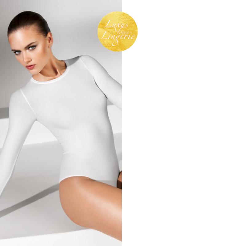 Schnelle Lieferung New York Body By Wolford ✨l Large Weiß White ✨ Basic Bodysuit Mit 56% Baumwolle
