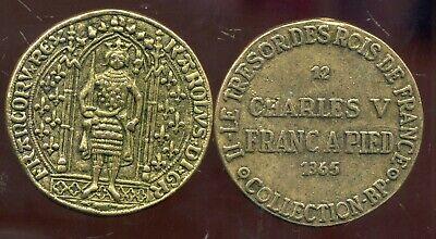 Volhardend Charles V Franc A Pied 1365 Collection Bp ( Bis ) Uitstekende Eigenschappen
