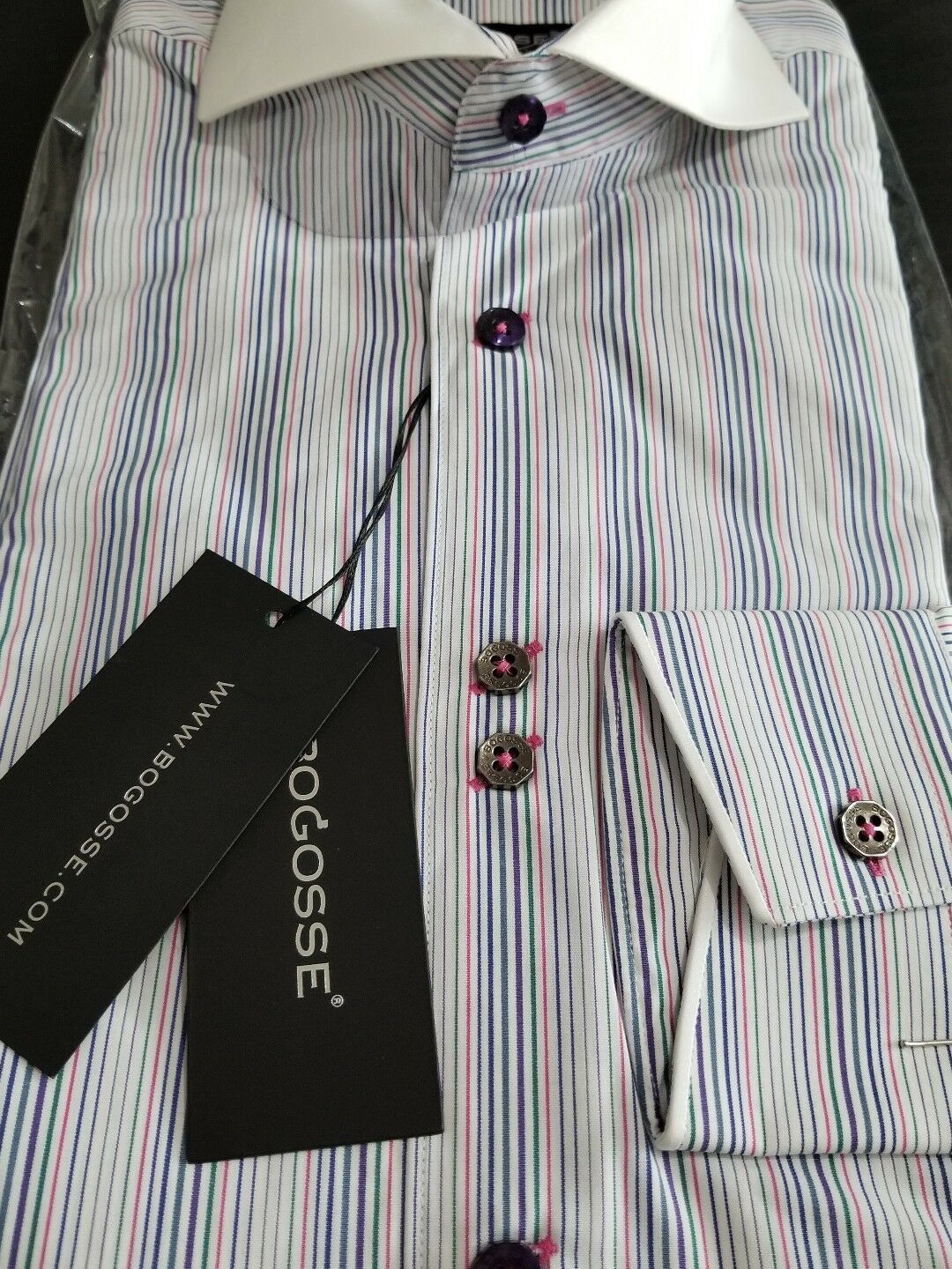UNIQUE NWT Bogosse men's size 2 or Small long sleeve button down very nice
