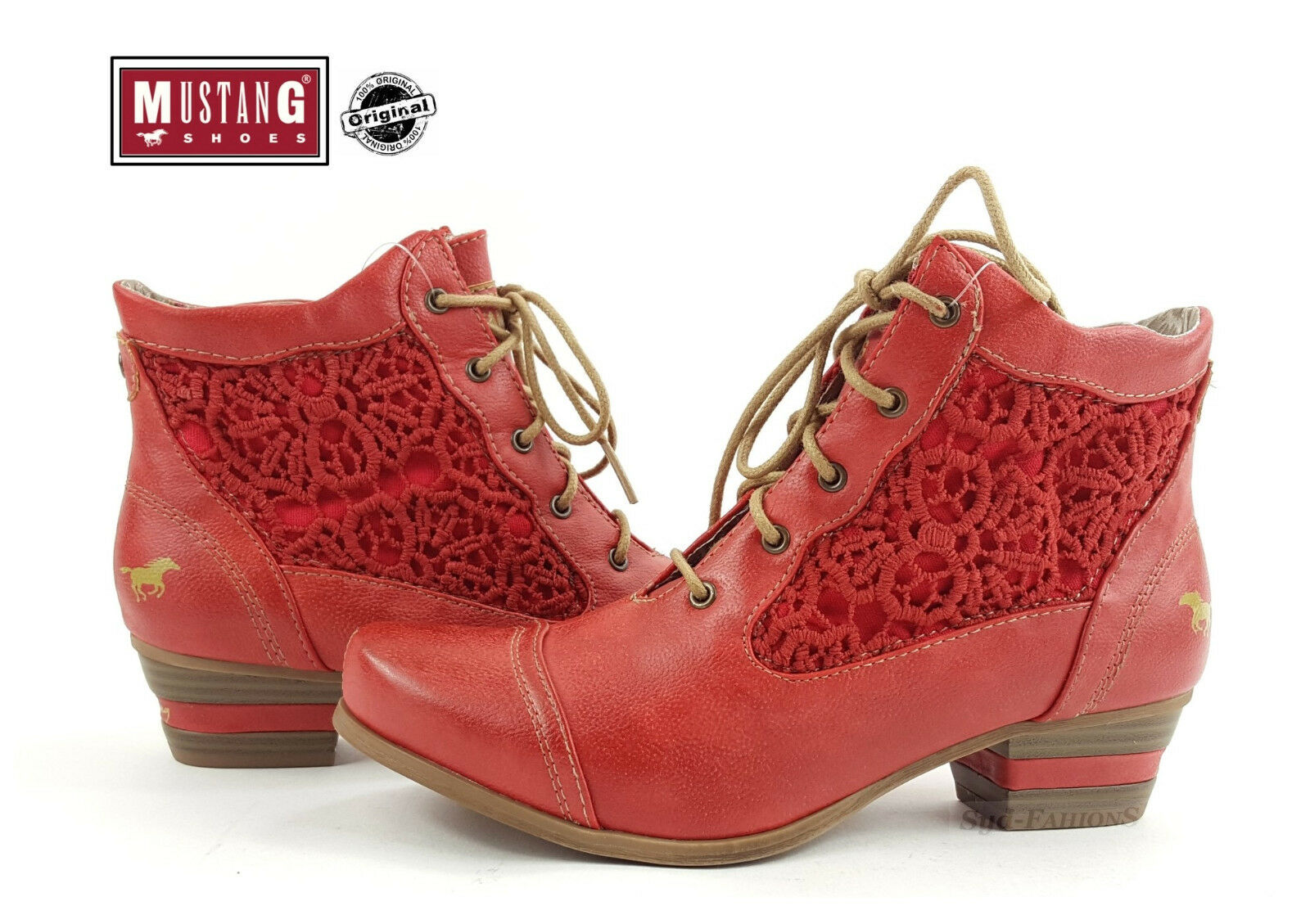 Nuevas Botas Zapatos para mujer al Mustang Verano Botas Con Cordones Botas al mujer Tobillo 1187-501 9cf68b