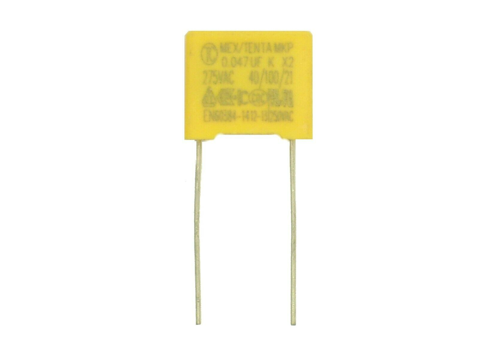 Condensador de supresi/ón 0,1/µF 250V X2 Miflex KSPpzp-5 ; 0,1uF