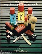 PUBLICITE ADVERTISING 085 1981  YVES SAINT LAURENT eau de toilette after-shave