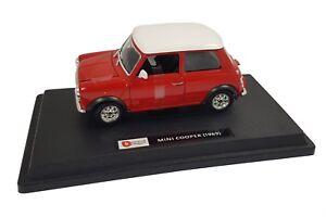 Burago-Mini-Classic-Cooper-1969-1-24-Pressofuso-in-Rosso-B18-22011