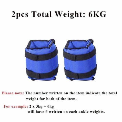 1 Set Gewichtsmanschetten 0,5-3,0kg Knöchelriemen für Kraft und Ausdauerübungen