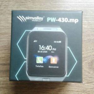 """1,5""""-Handy-Uhr & Smartwatch PW-430.mp mit Bluetooth 3.0 und Fotokamera 2 akkus"""
