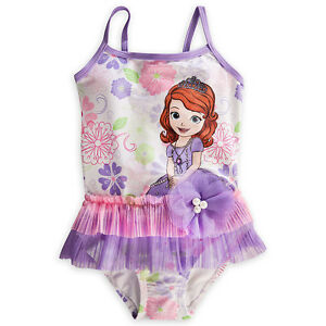 c0e5a2f404 NEW DISNEY STORE SOFIA THE FIRST PRINCESS DELUXE SWIMSUIT GIRLS 1PC ...
