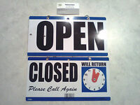 Open & Closed Sign with Clock that has Movable Hands