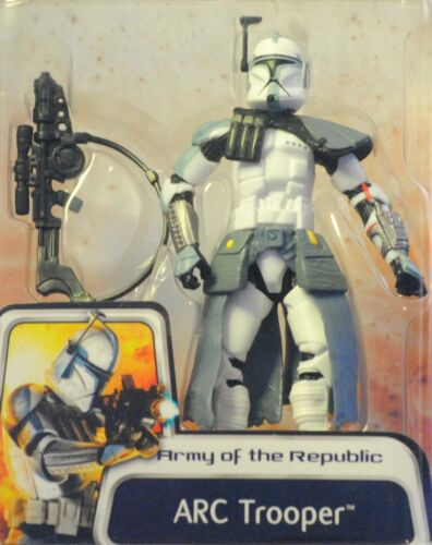 Clone Wars armée de la République Blue ARC Trooper 03#43 Concept Action Figure Comme neuf on Card