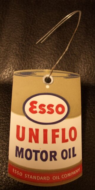 Esso Uniflo Motor Oil Filling Tag, MINT and UNUSED!