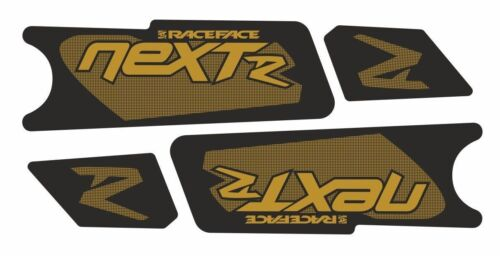 Race Face NextR Crank Decals Set Stickers Mountain Bike Adhesive Gold