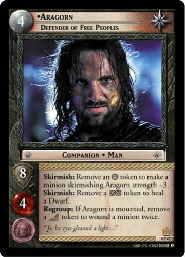 Defender Of Free Peoples 0P47 LoTR TCG Promo Aragorn
