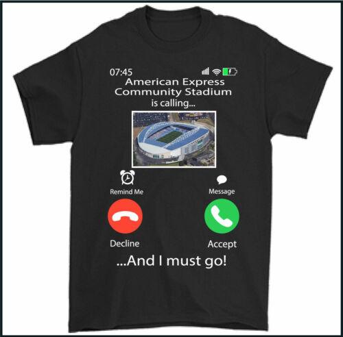 BRIGHTON /& HOVE ALBION T-SHIRT Stadium is Calling Mens Top Football FC Kit Tee