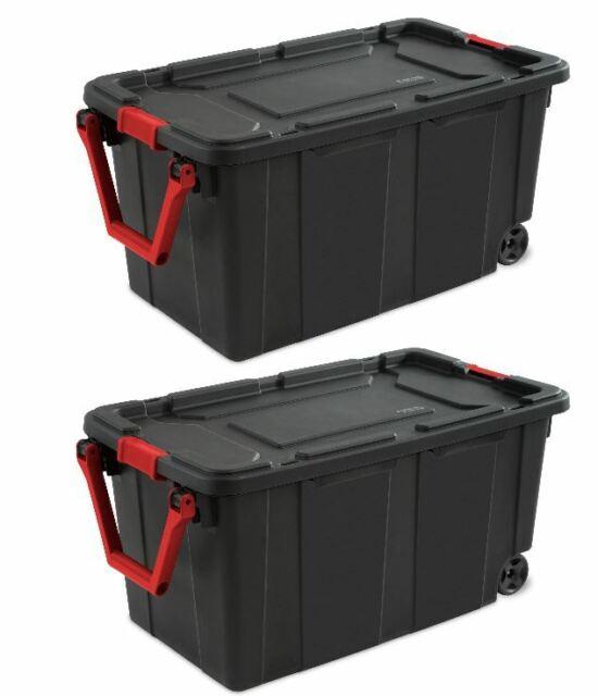 Beau Rubbermaid Roughneck Wheeled Storage Box, 45gal,Organizer, Packer For Sale  Online | EBay
