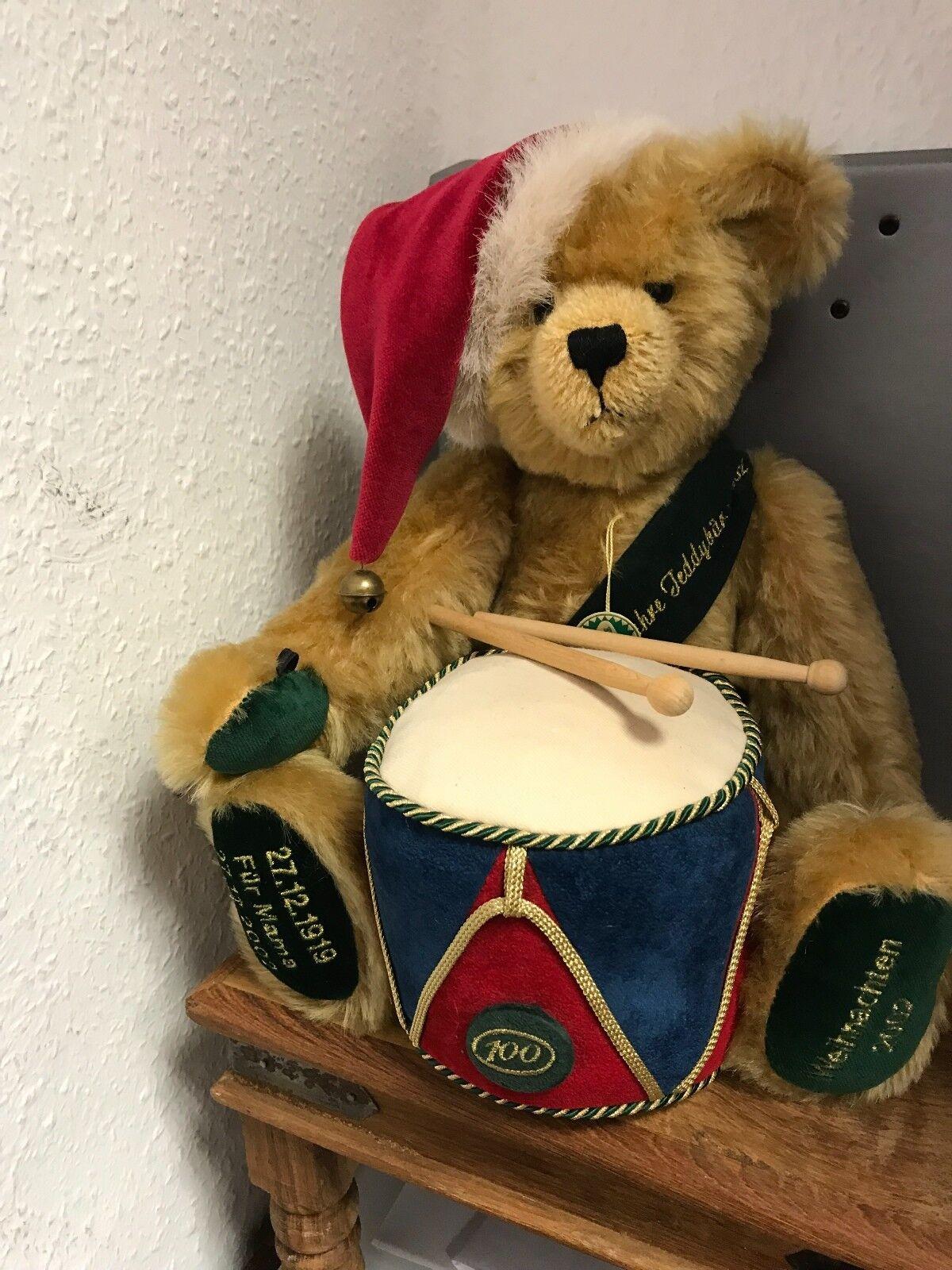 Hermann Teddy Weihnachtsbär 2002. 42 cm. Limitiert. Unbespielt.  | Vorzugspreis