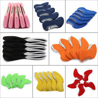 5PCS Neoprene Iron Golf Club Head Covers Putter Sports Headcovers Cases Colors