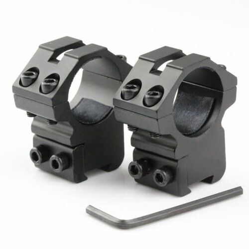 """2pcs Hunting Scope Mount Ring 25.4mm 1/"""" Dovetail Mount 11mm Rail For 22 cal"""