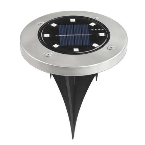 LED Solar Power Buried Light Ground Waterproof Outdoor Garden Path Decking Lamp