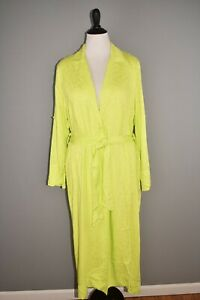 AFRM NEW $89 Hendrix Duster Jacket in Lime Green Roll Tab Sleeves Large