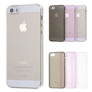 Crystal-AllClear-Case-iPhone-5-5S-SE-Schutz-Huelle-Cover-Schale-Clear-Farbe-Folie