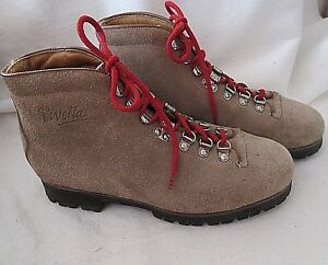 1860aec08e9 Details about PIVETTA For DMC Men's Size 8 N (Narrow) Leather & Suede  Hiking Boots VIBRAM SOLE