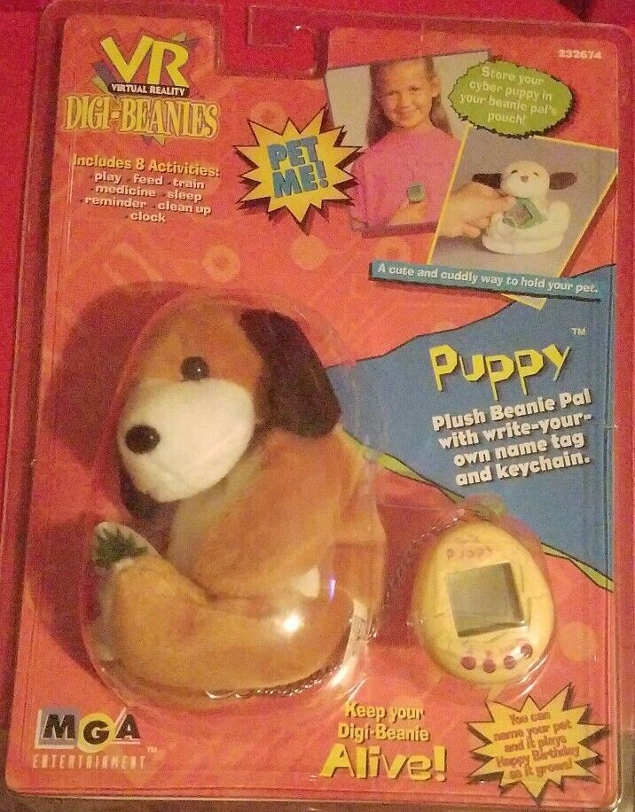 RARE  Brand New  Vintage 1997 VR Digi-Beanies Puppy Pet MGA Entertainment NIP
