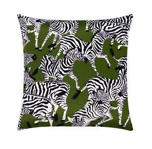 Image Is Loading Zebra Outdoor Pillow Zebras Herd Patio Pillow Black